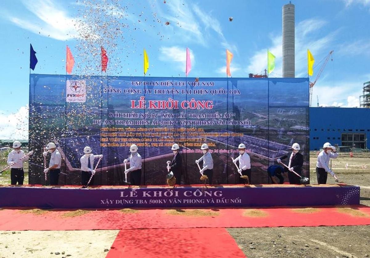 Lễ khởi công Trạm biến áp 500 KV và đấu nối tại Vân Phong, tỉnh Khánh Hòa