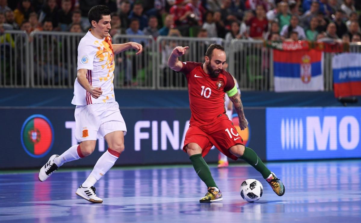 Bồ Đào Nha và Tây Ban Nha sẽ tái hiện trận chung kết Futsal EURO ở tứ kết Futsal World Cup. (Ảnh: Getty)