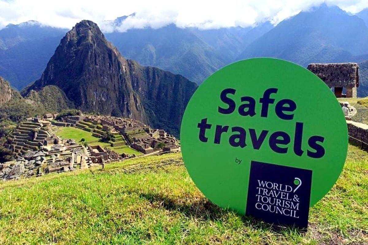 """Một điểm đến tại Peru nhận """"Tem du lịch an toàn"""". Nguồn: WTTC"""