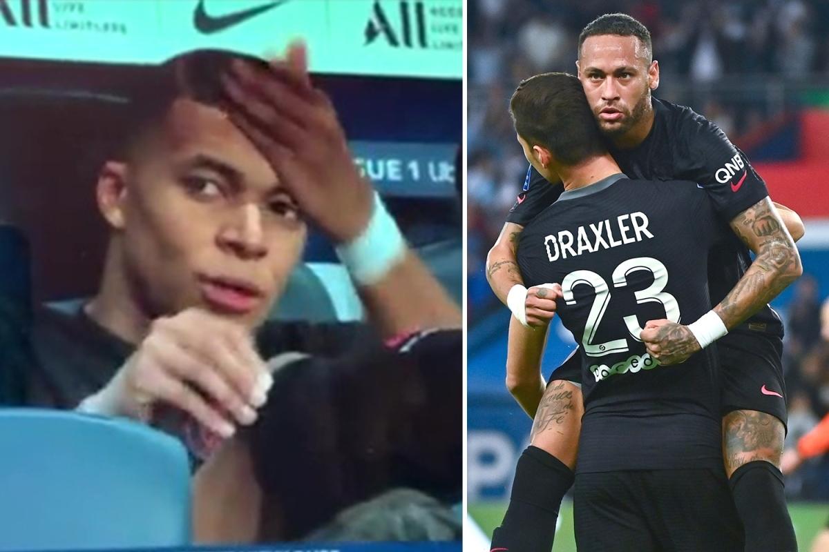 Mbappe tỏ ra bực tức khi chứng kiến Neymar kiến tạo cho Draxler ghi bàn. (Ảnh: Marca)