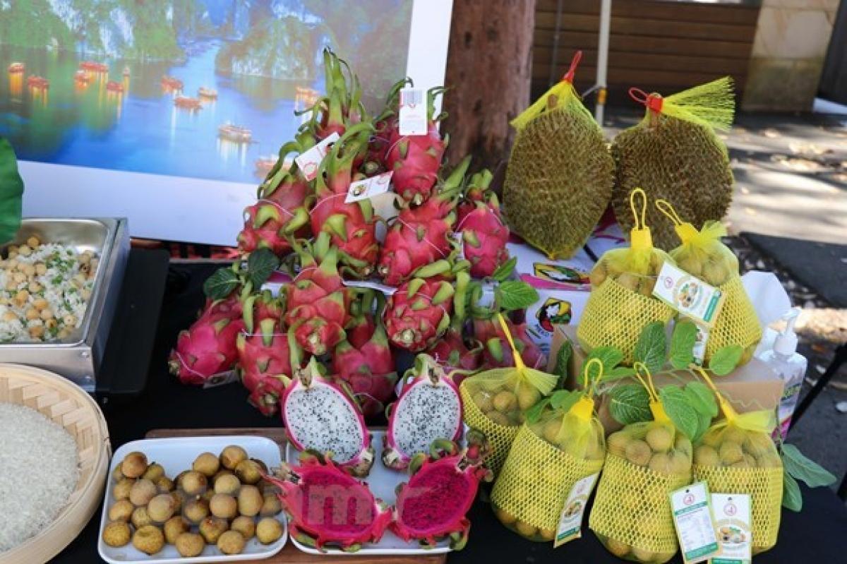Vietnamese fruits on display in Sydney
