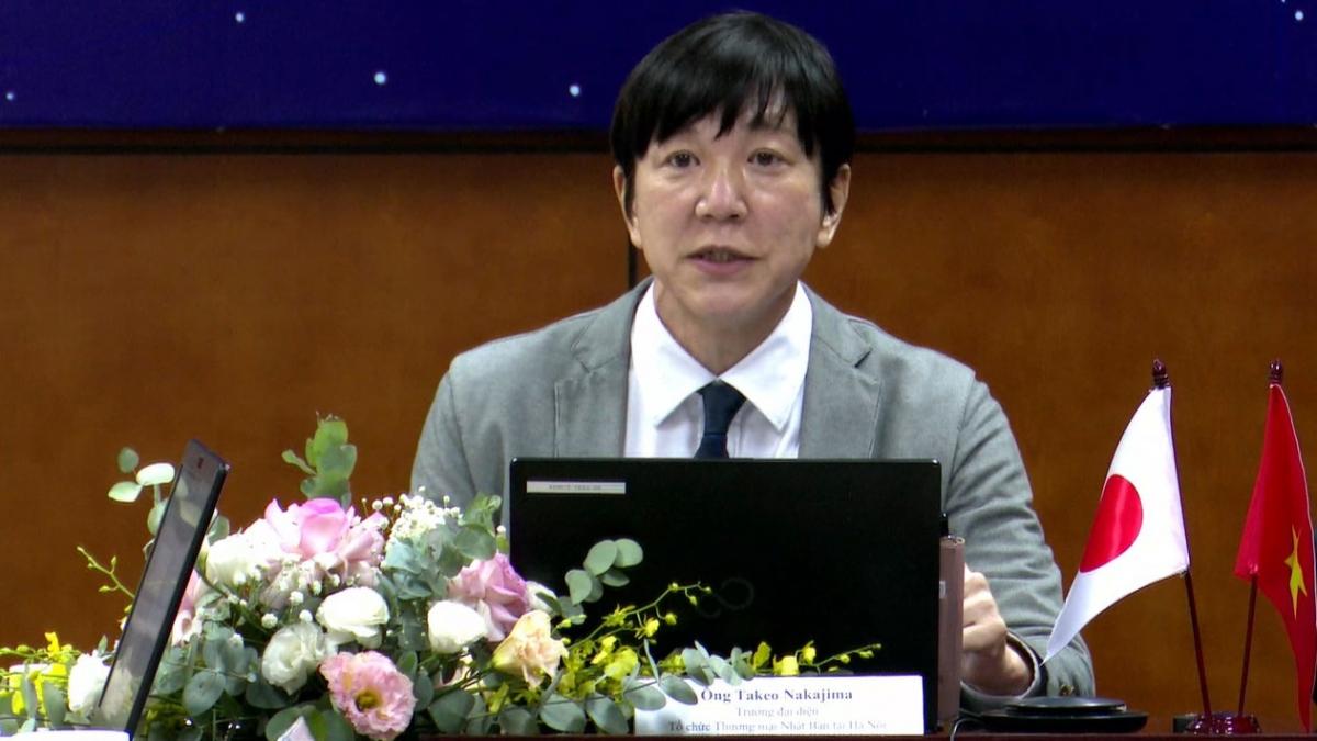 Ông Takeo Nakajima, Trưởng đại diện văn phòng Xúc tiến Thương mại Nhật Bản (JETRO) tại Hà Nội
