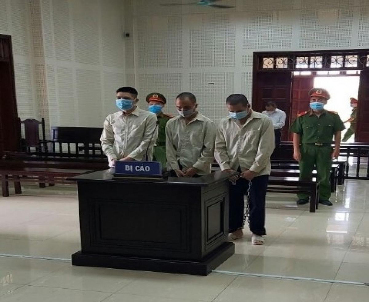 Các bị cáo tại phiên tòa. Ảnh: Công an tỉnh Quảng Ninh