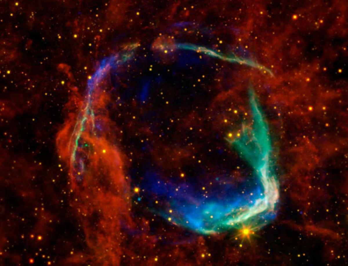 Ảnh minh họa: Tàn dư của một vụ nổ siêu tân tinh mà các nhà thiên văn học Trung Quốc ghi nhận vào năm 185 (không phải vụ nổ siêu tân tinh năm 1181). Theo: Live Science