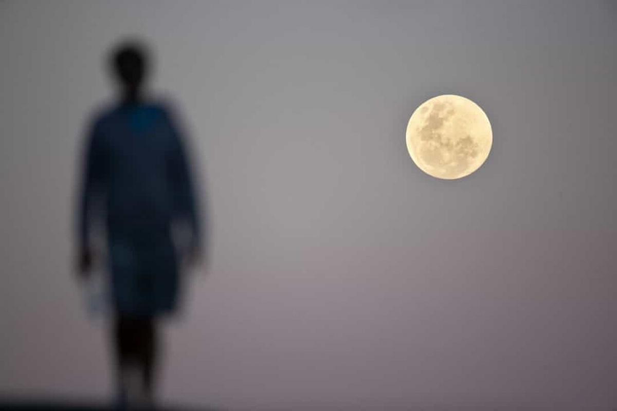 Mặt Trăng ngày càng xa Trái Đất.Mặt Trăng đang di chuyển cách xa Trái Đất với vận tốc khoảng 3,81cm/năm./.