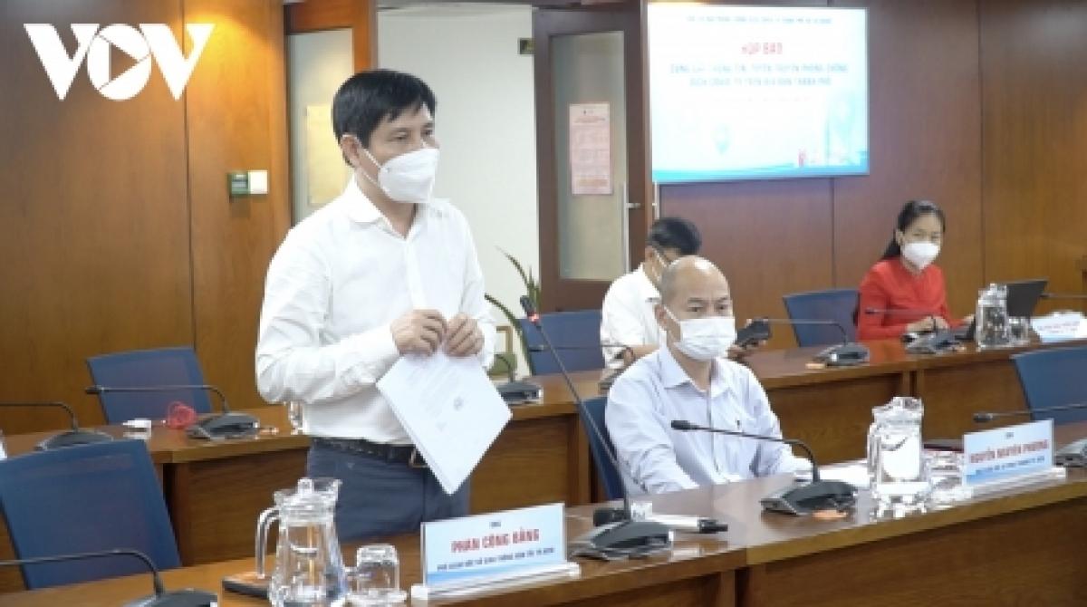 Ông Phan Công Bằng, Phó Giám đốc Sở Giao thông vận tải TP.HCM thông tin tại buổi họp báo chiều 26/9.