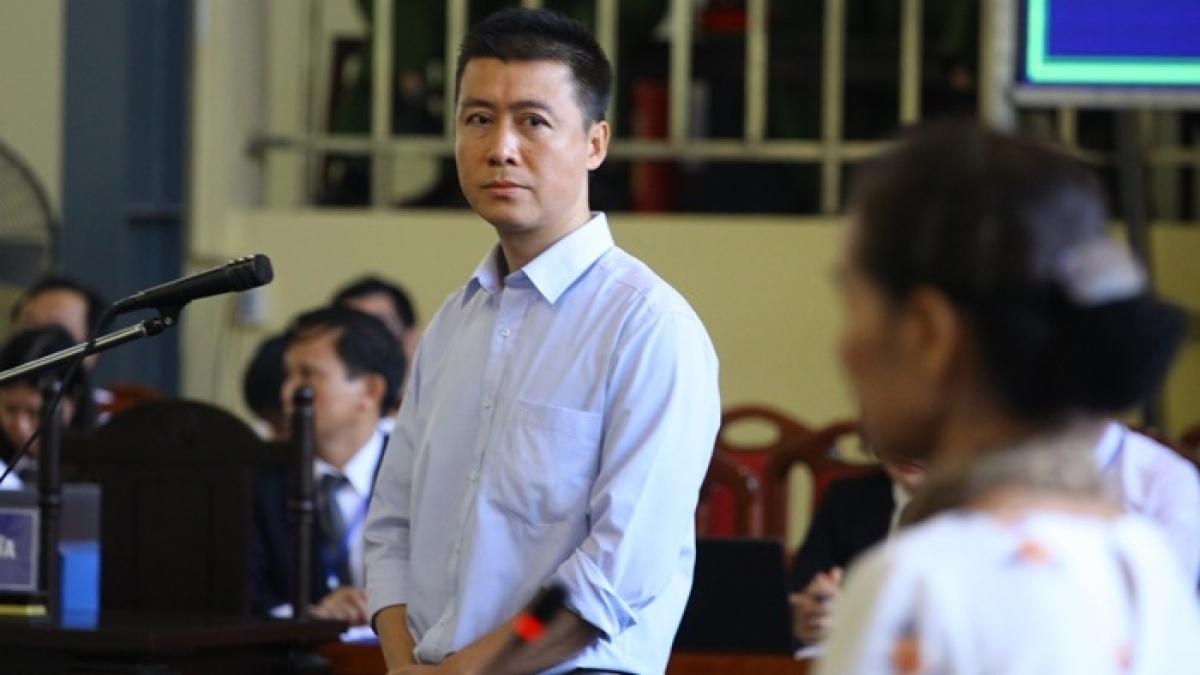 Phan Sào Nam tại phiên tòa sơ thẩm (Ảnh: Trọng Phú)
