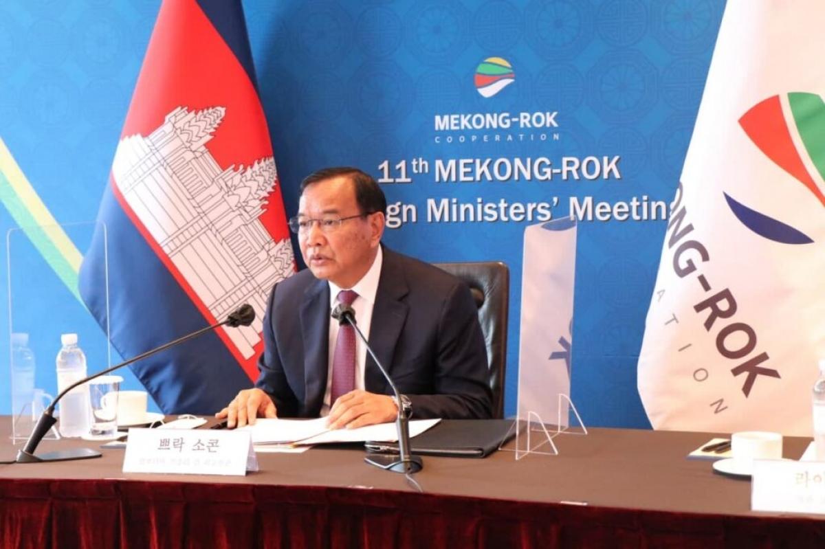 Phó Thủ tướng Prak Sokhon. Ảnh: Bộ ngoại giao Campuchia