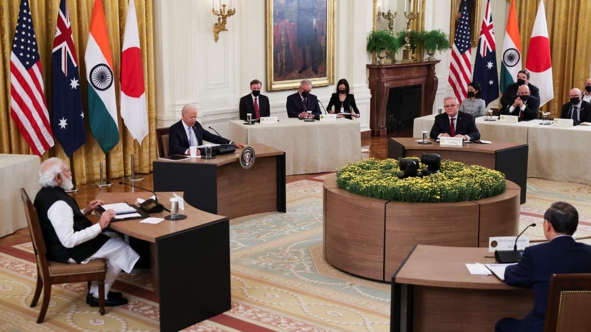 Lãnh đạo nhóm Bộ tứ kim cương họp tại Nhà Trắng ngày 24/9.