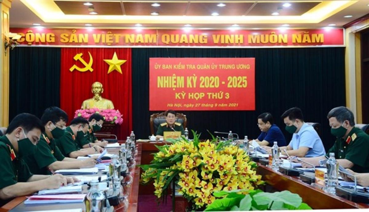 Đại tướng Lương Cường chủ trì kỳ họp thứ 3, Ủy ban Kiểm tra Quân ủy Trung ương. (Ảnh: Baochinhphu.vn)