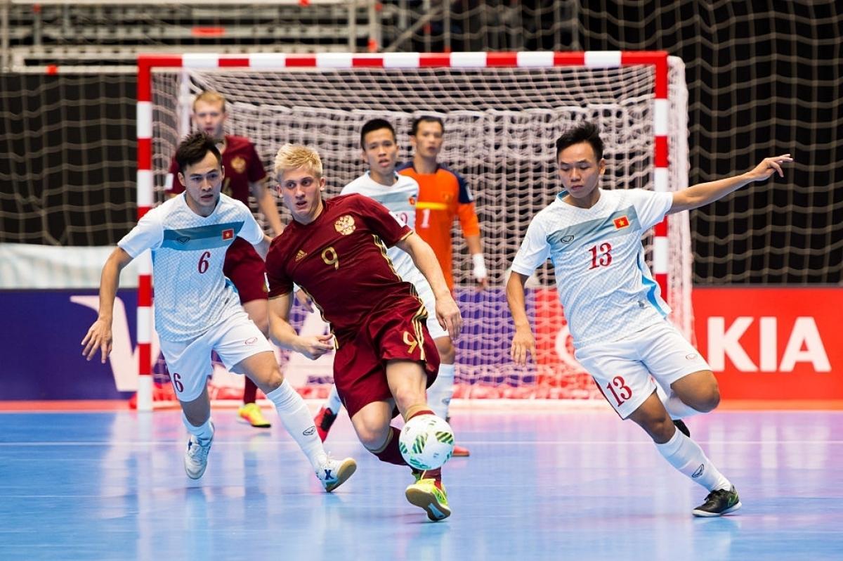 Cách đây 5 năm, ĐT Futsal Nga từng thắng ĐT Futsal Việt Nam 7-0. (Ảnh: Getty).