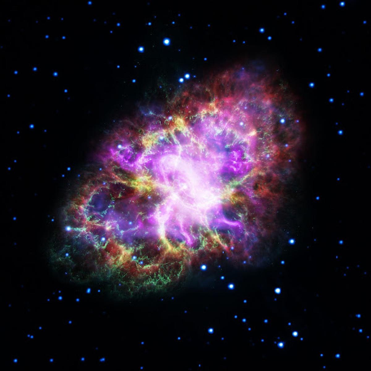 Hình ảnh ấn tượng của Tinh vân Con Cua thuộc chòm sao Kim Ngưu.
