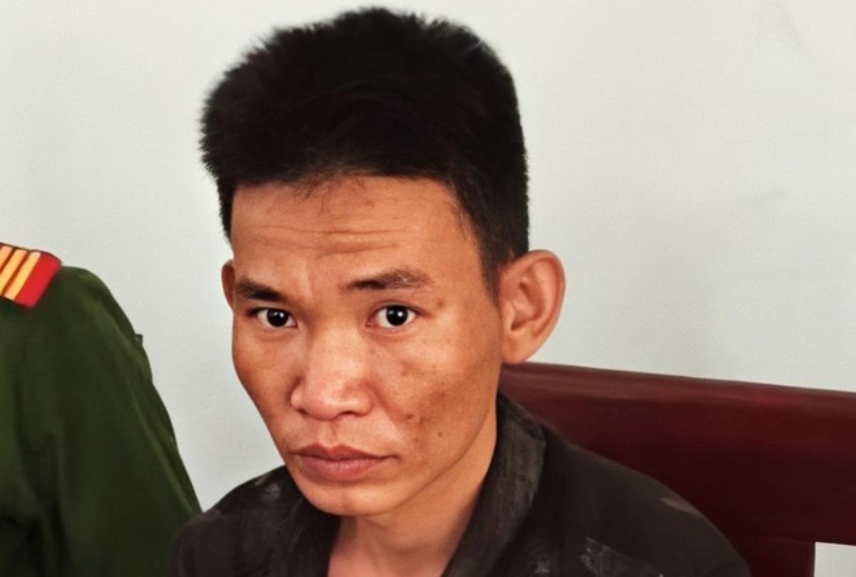 Nguyễn Đức Thủy thời điểm bị bắt giữ (Ảnh: Quang Huy).
