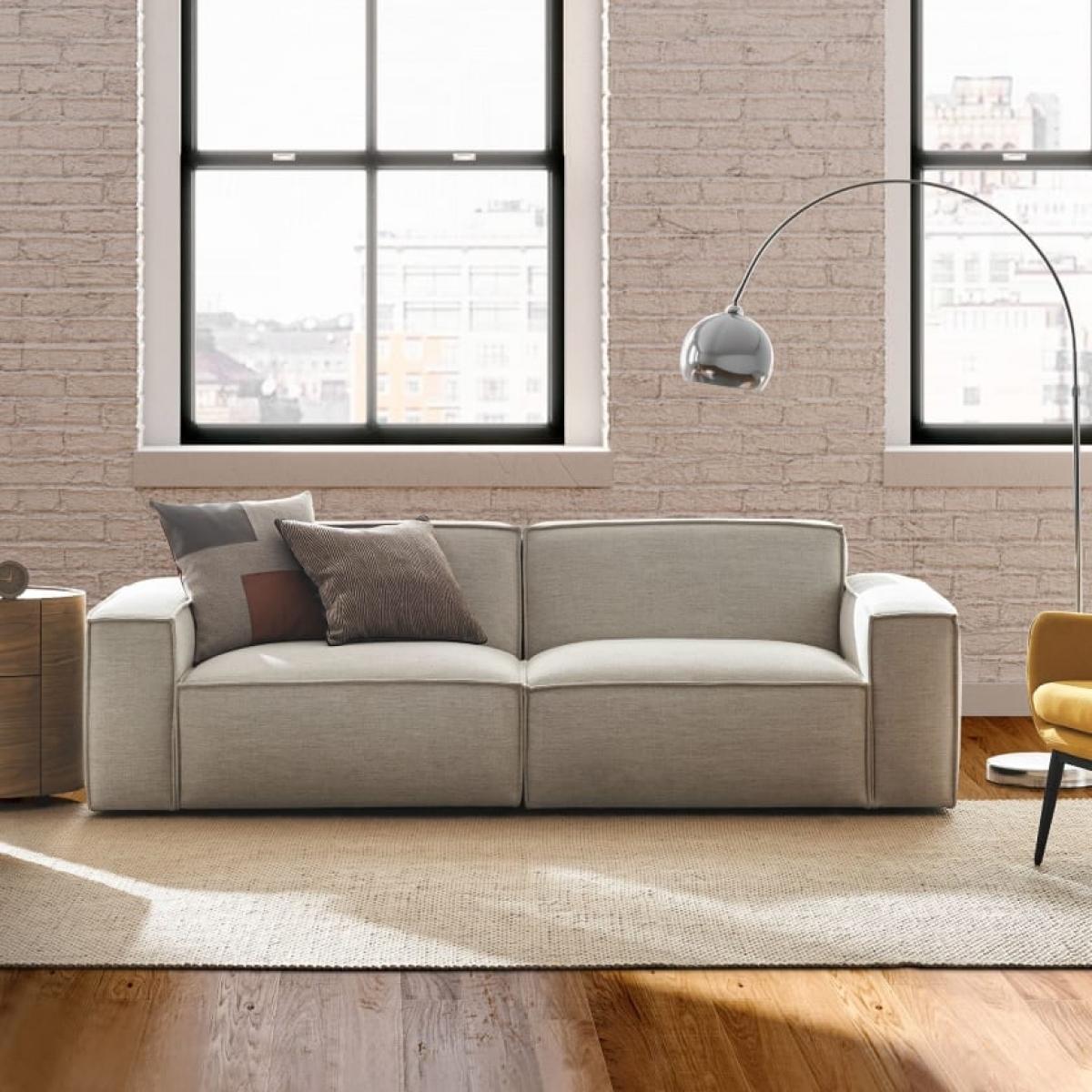Loại sofa 2 khoang có thể tách đôi này cũng có tính cơ động cao cho những không gian hẹp./.
