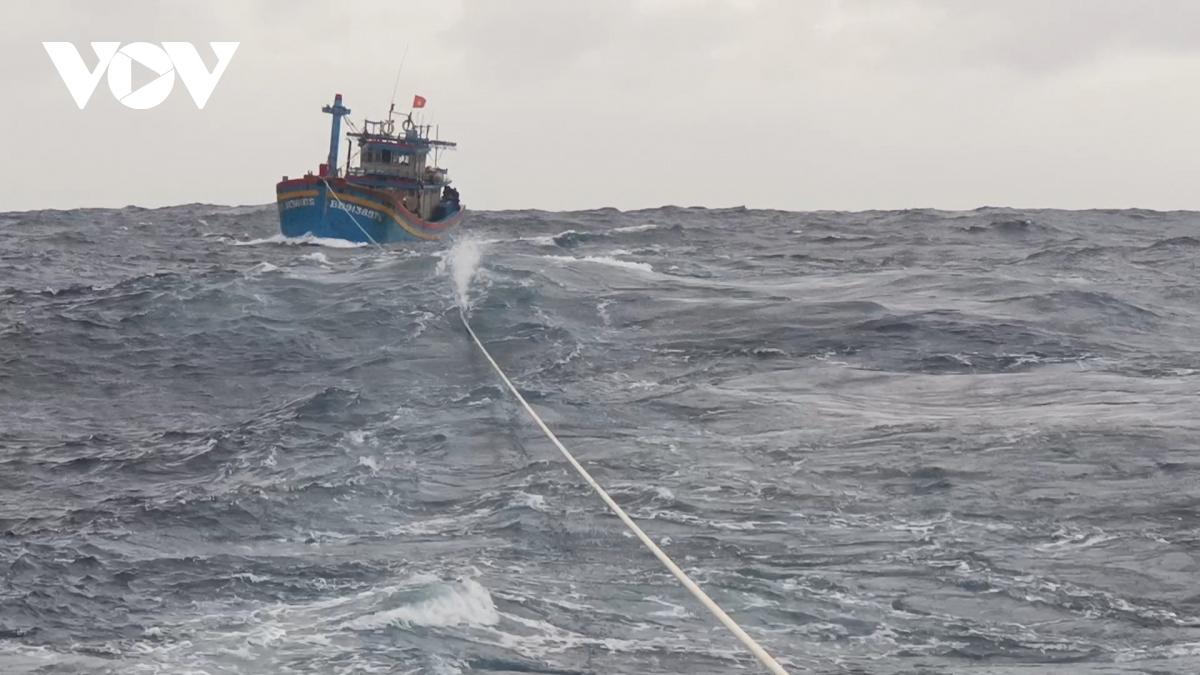Trong vùng biển từ Quảng Trị đến Khánh Hòa có 149 tàu, trong đó có 23 tàu trong khu vực nguy hiểm.