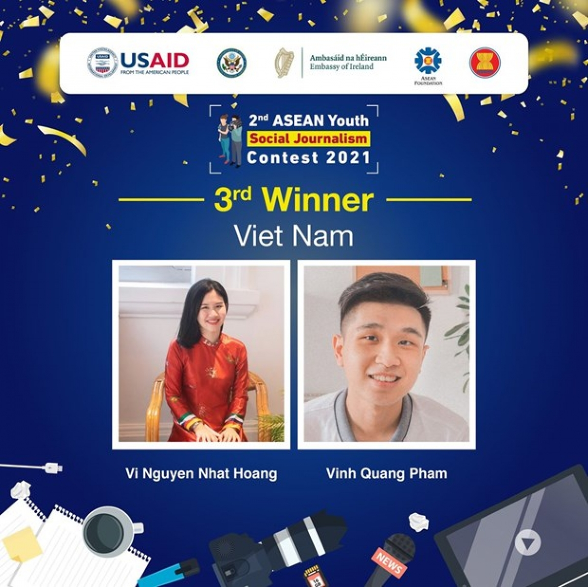 Two local students win ASEAN Youth Social Journalism Contest 2021