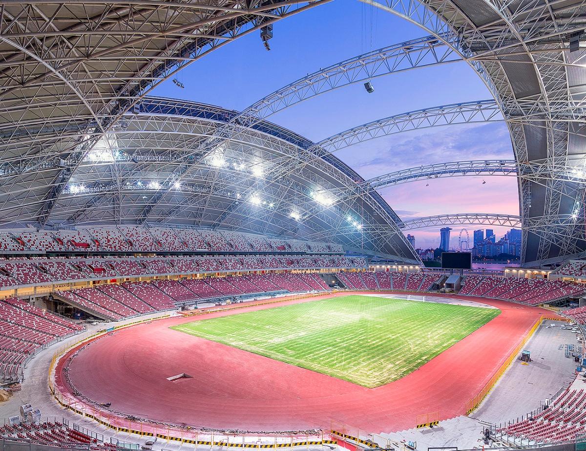 SVĐ Quốc gia Singapore, một trong những địa điểm tổ chức AFF Cup 2020. (Ảnh: TNP).