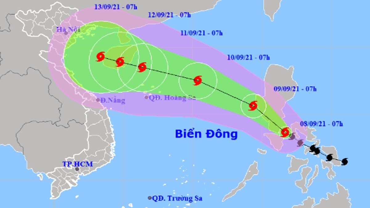 Storm Conson is heading toward northern Vietnam. (Photo: NCHMF)