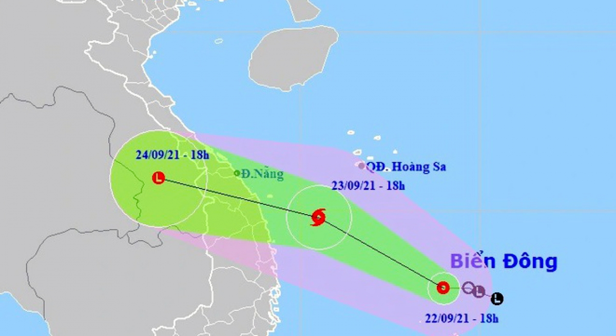 A tropical storm is likely to pound central Vietnam in the next two days. (Photo:NCHMF)