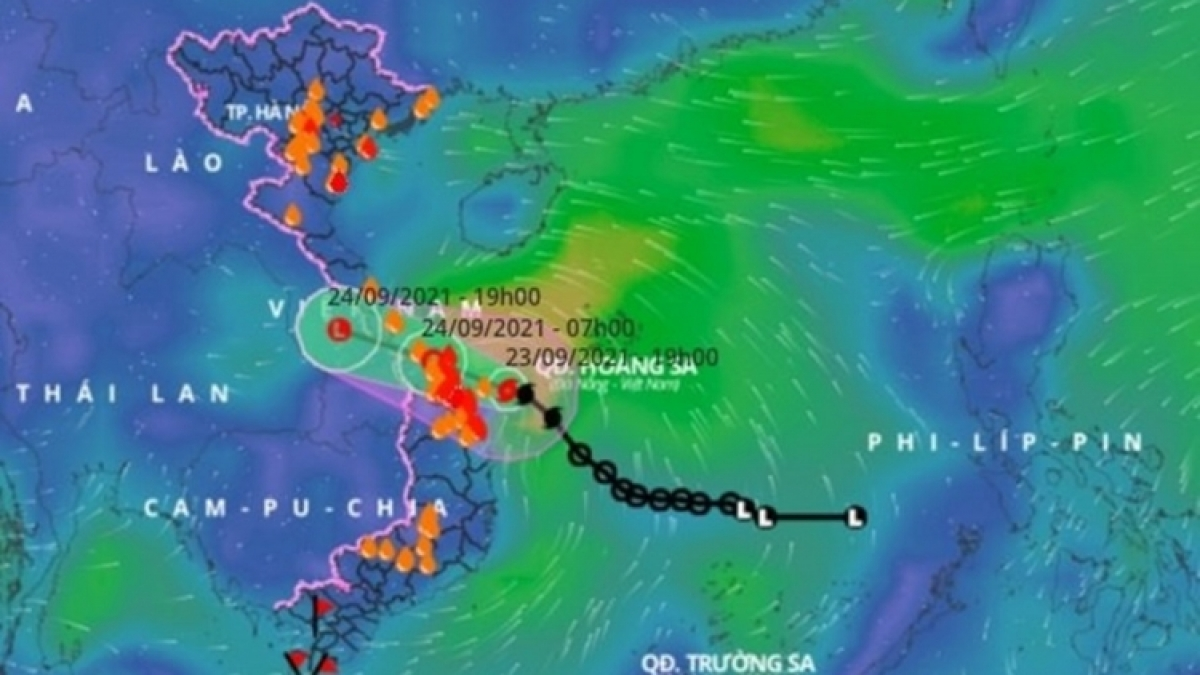 Storm Dianmu quickly weakens into a low pression after making landfall early on September 24.