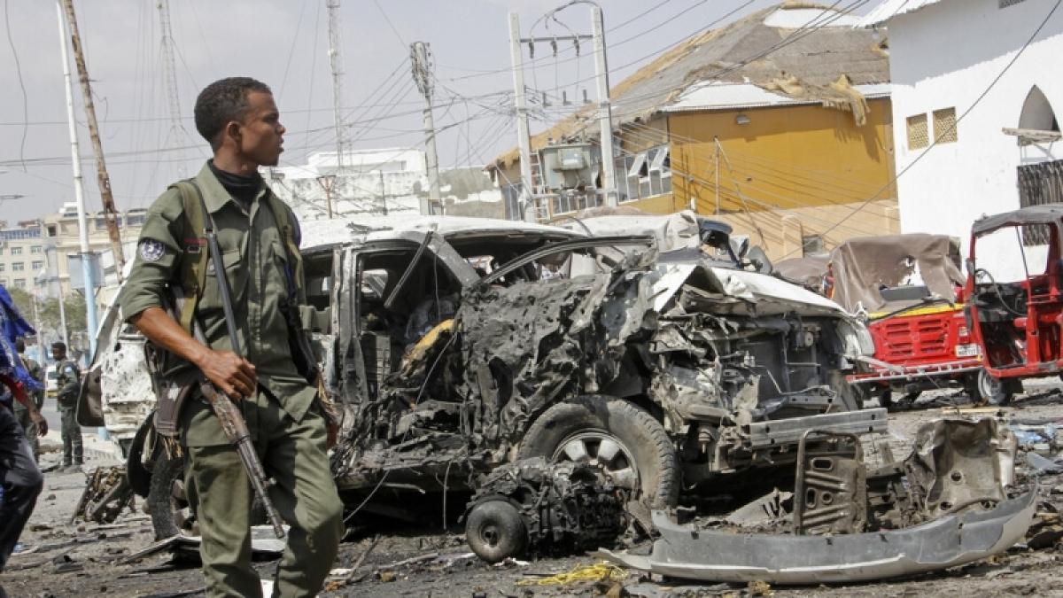 Tấn công khủng bố ở Somalia. Ảnh: AP