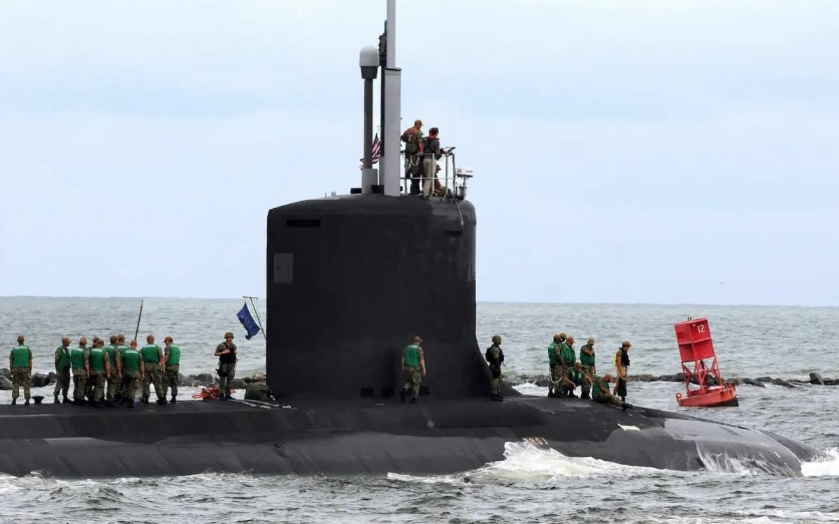 Tàu ngầm tấn công USS Indiana chạy bằng năng lượng hạt nhân của Mỹ. Ảnh: NurPhoto.