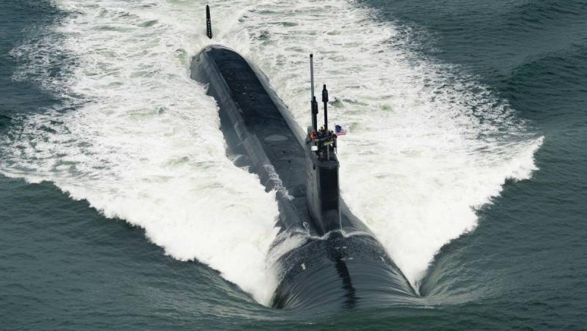 Tàu ngầm hạt nhân Virginia của Mỹ. Ảnh minh họa: Top war.