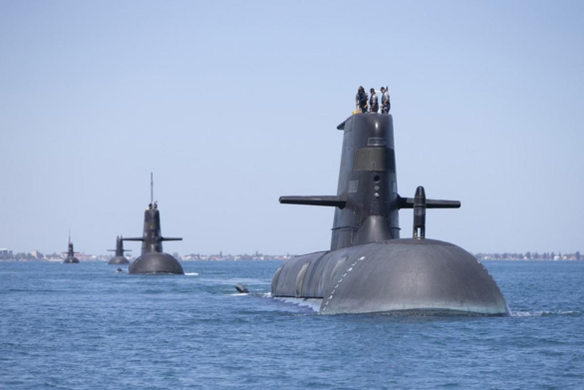 Tàu ngầm lớp Collins của hải quân Australia. Ảnh: Bộ Quốc phòng Australia.