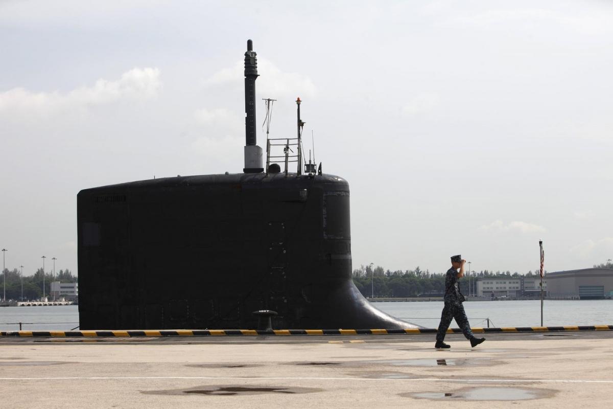 Tàu ngầm USS North Carolina ở Căn cứ Hải quân Changi, Singapore ngày 28/4/2014. Ảnh: Reuters