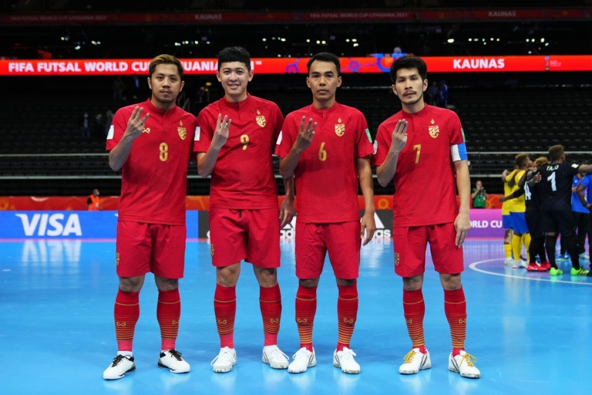 ĐT Futsal Thái Lan giành vé vào vòng 1/8 Futsal World Cup 2021 sau trận đại thắngQuần đảo Solomon. (Ảnh: Getty).