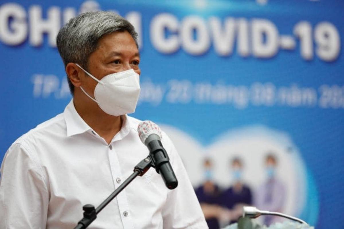 Thứ trưởng Bộ Y tế Nguyễn Trường Sơn, Trưởng Bộ phận thường trực đặc biệt của Bộ Y tế tại TP.HCM. (Ảnh: Bộ Y tế)