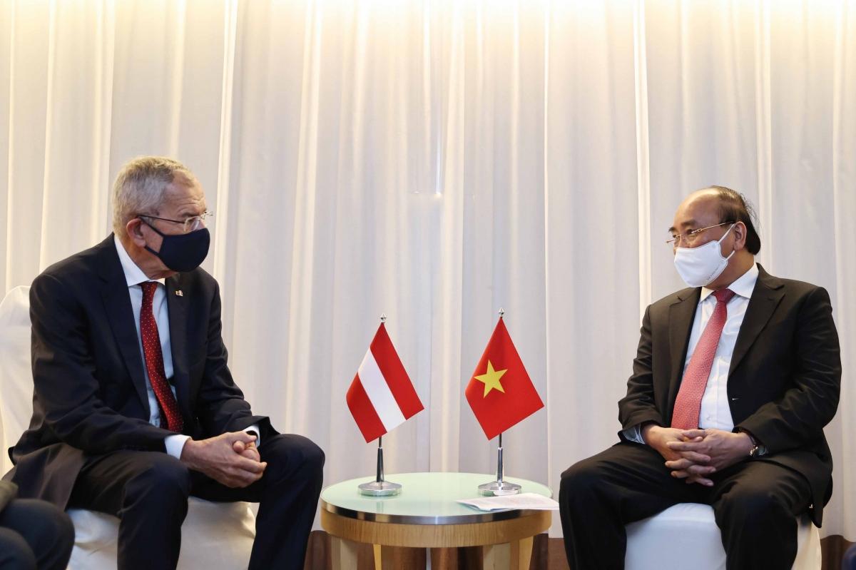 Chủ tịch nước tiếp Tổng thống ÁoAlexander Van Der Bellen