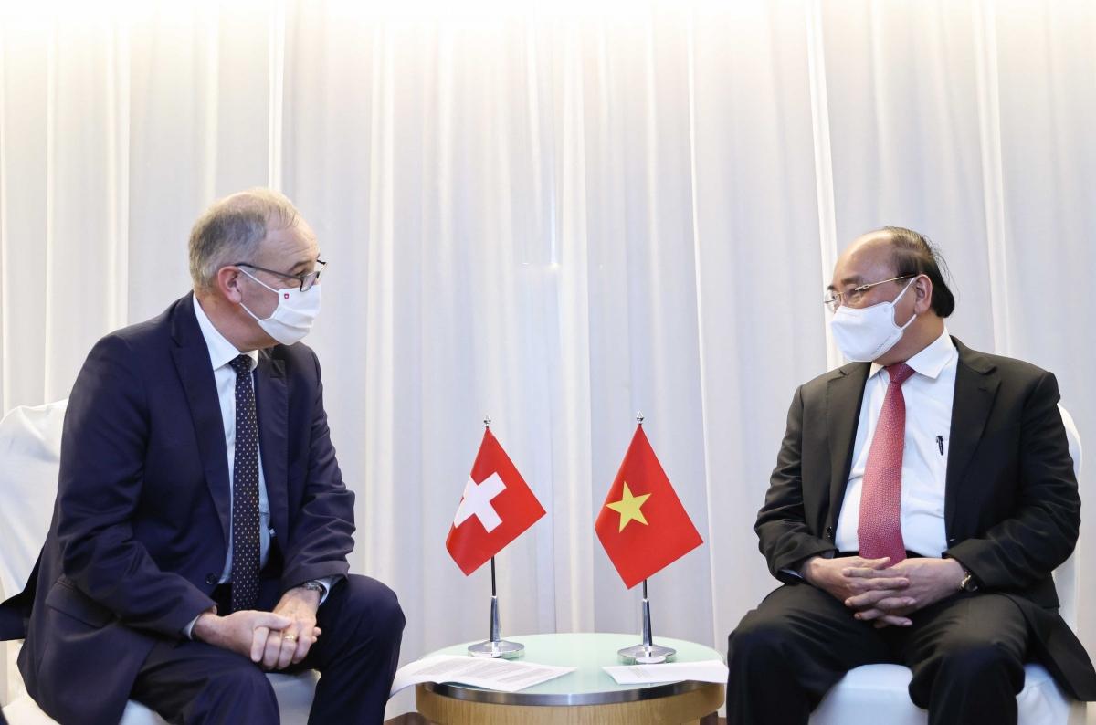 Chủ tịch nước Nguyễn Xuân Phúc và Tổng thống Thụy Sỹ Guy Parmelin