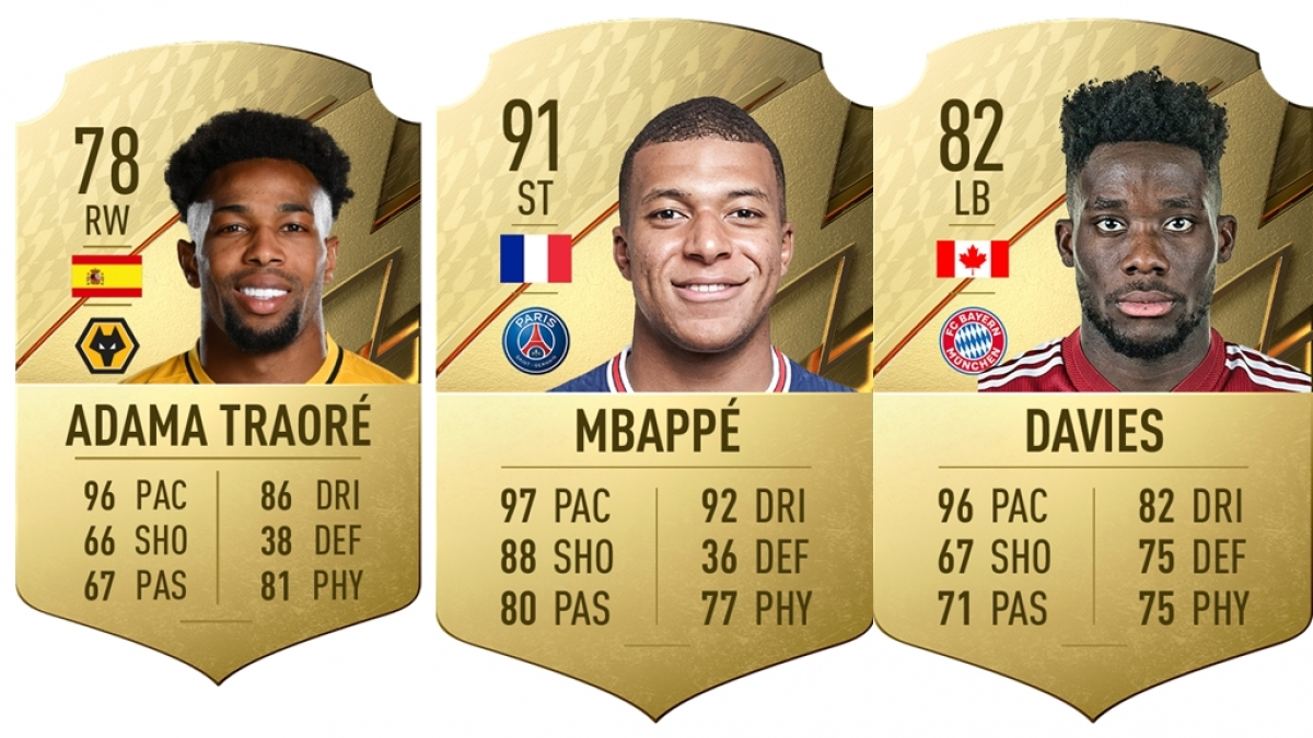 Top 10 cầu thủ chạy nhanh nhất trong trò chơi bóng đá FIFA 22 như sau: