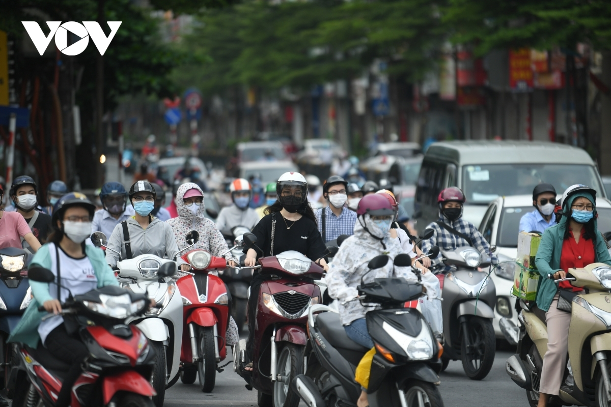 Traffic jams serve to clog many roads throughout the capital during the morning.
