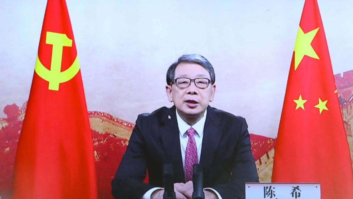 Ông Trần Hy -Ủy viên Bộ Chính trị, Bí thư Ban Bí thư, Trưởng Ban Tổ chức Trung ương, Hiệu trưởng Trường Đảng Trung ương Đảng Cộng sản Trung Quốc.