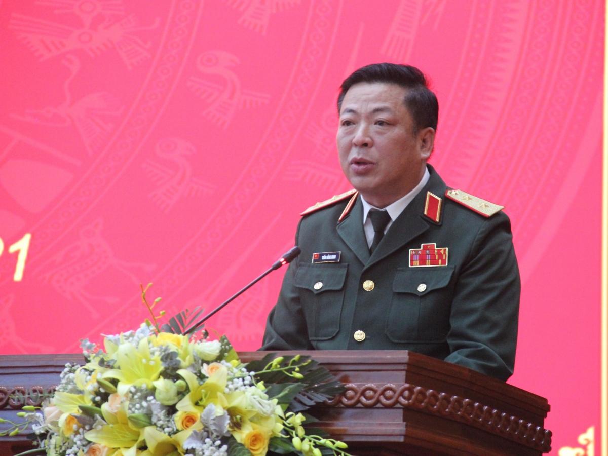 Tân Bí thư Tỉnh ủy Cao Bằng, Trung tướng Trần Hồng Minh phát biểu nhận nhiệm vụ
