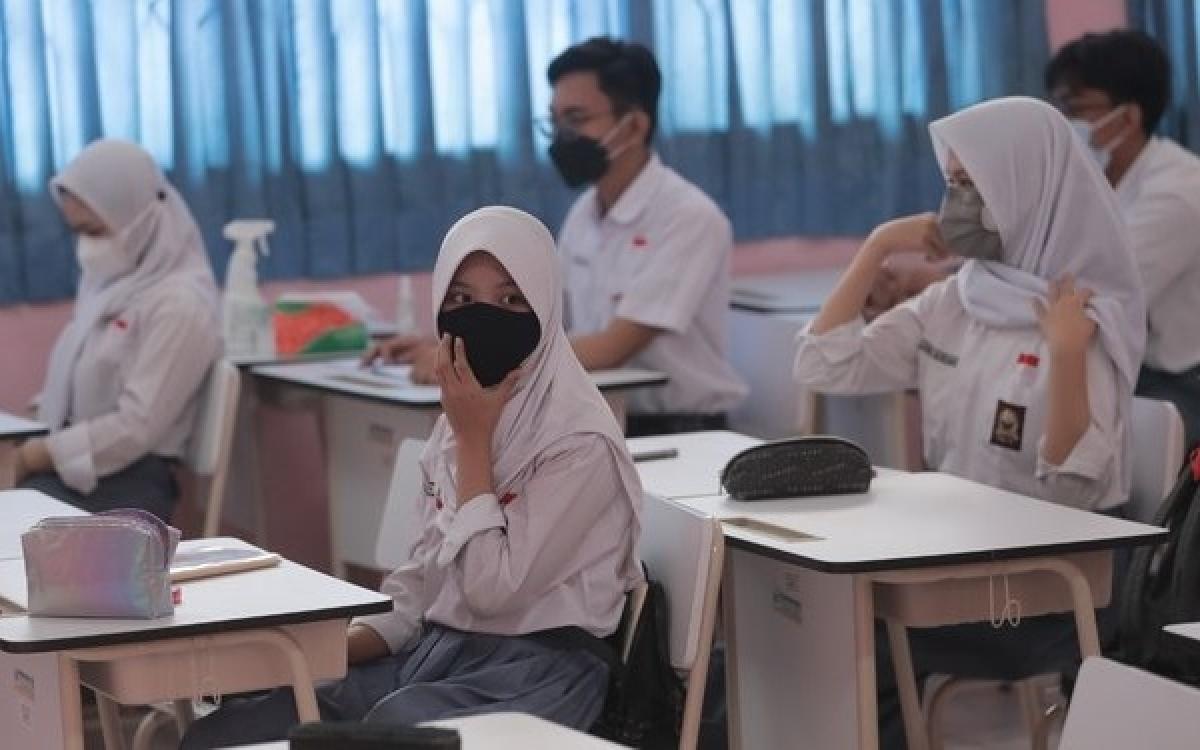 Trường học Indonesia mở trở lại cửa từ tháng 9. Ảnh: Merdeka.com.