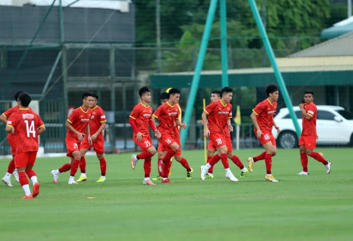 U23 Việt Nam sẽ luyện tập tại Hà Nội đến ngày 8/10 trước khi di chuyển sang UAE. (Ảnh: VFF).