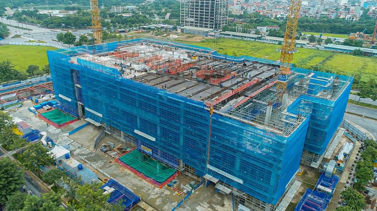 Tính đến tháng 9/2021, công trình xây dựng Trung tâm R&D của Samsung Việt Nam đã đạt 50% tiến độ thi công