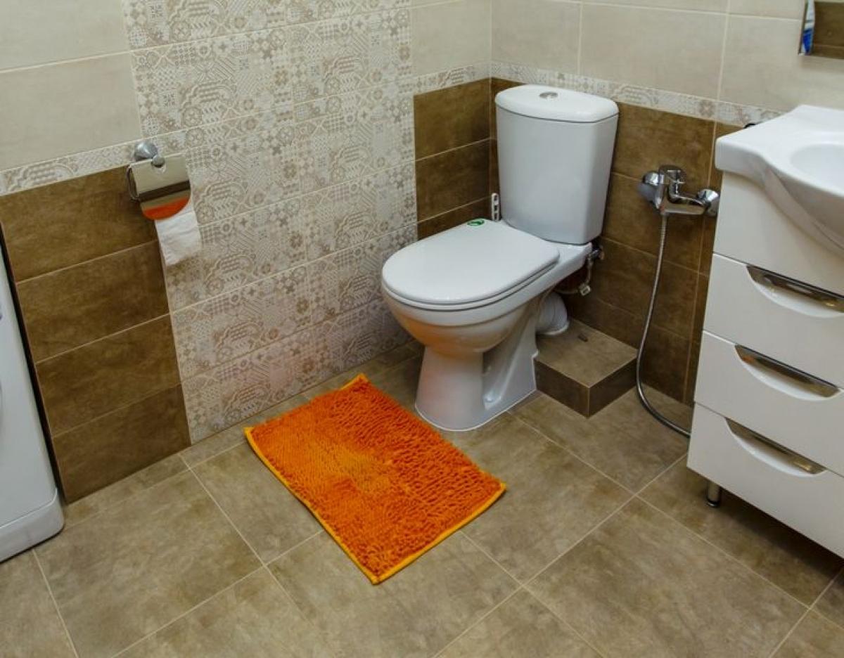 Loại thảmbông này khiến phòng tắm mất thẩm mỹ, thường tích tụ nhiều bụi và tóc. Bạn có thể để thảm ở cửa phòng tắm thay vì bên trong, cũng như chọn một số loại thảm đá hút nước, sẽ vệ sinh hơn.