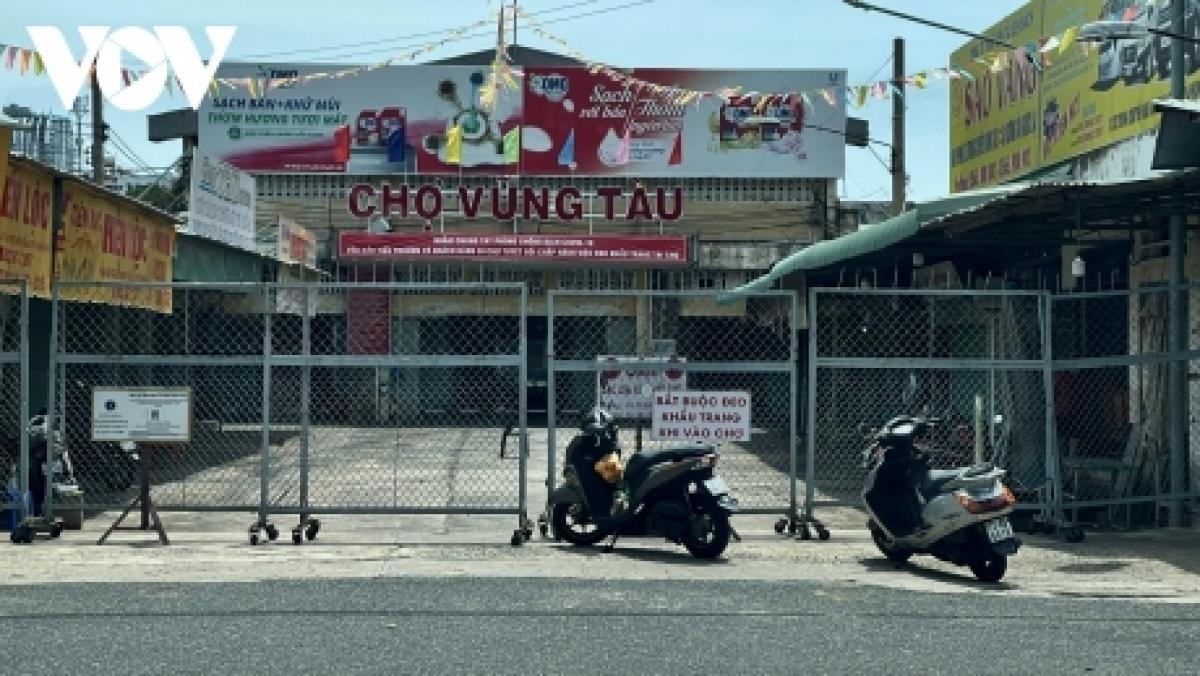 Chợ trung tâm TP Vũng Tàu chưa hoạt động lại