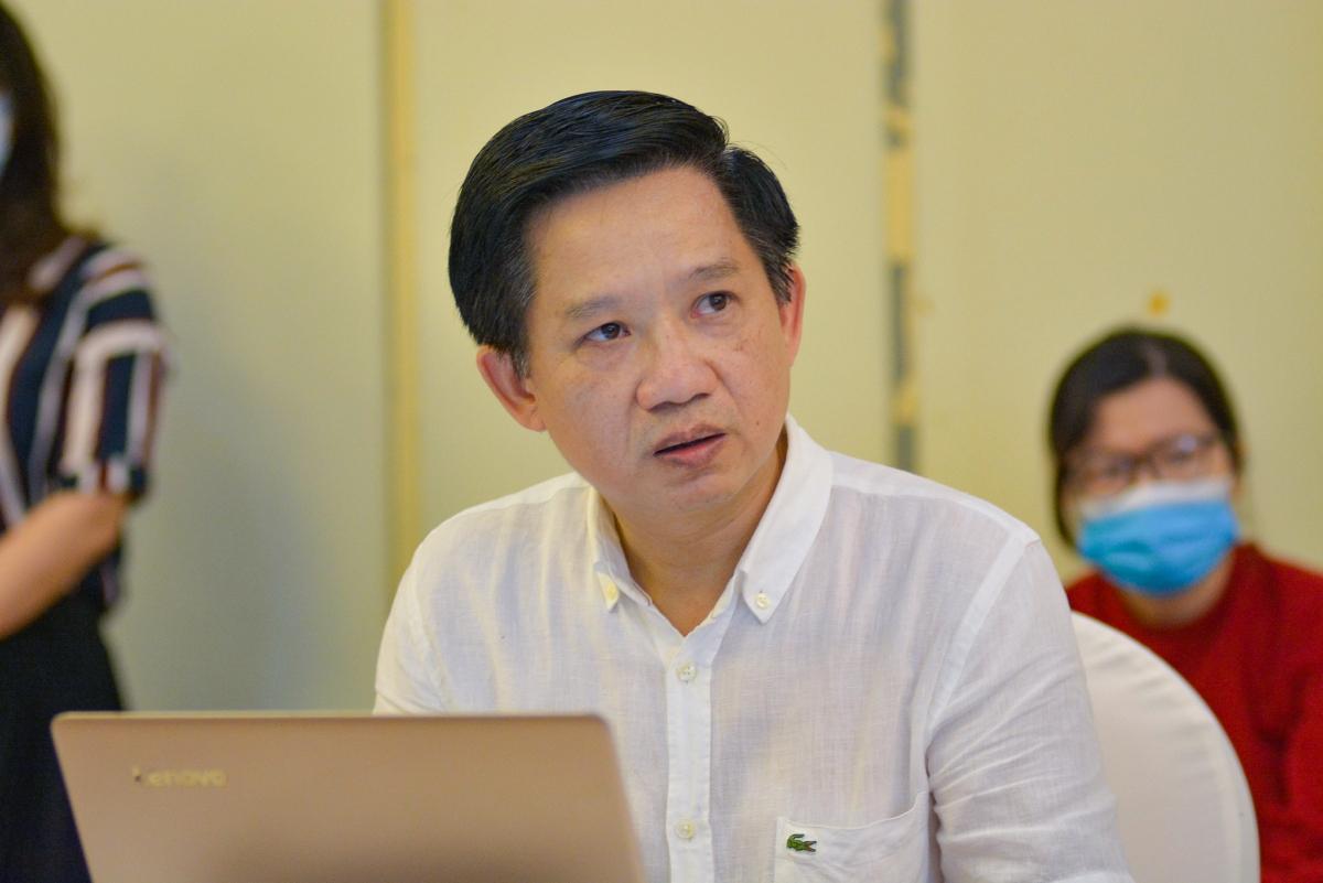 Ông Phùng Quang Thắng - Chủ tịch Hội Lữ hành Hà Nội. Ảnh: Tuấn Nam