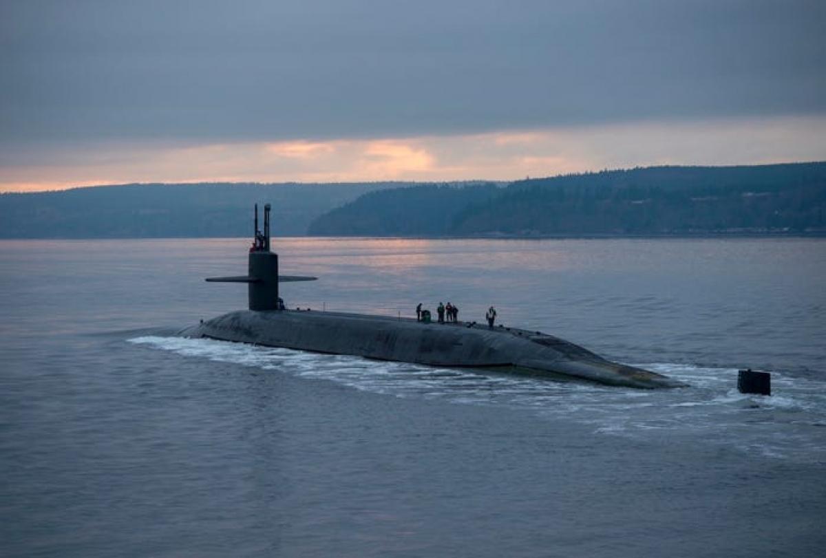 Tàu ngầm mang tên lửa đạn đạo USS Pennsylvania lớp Ohio của Mỹ. Ảnh: Bussiness Insider.