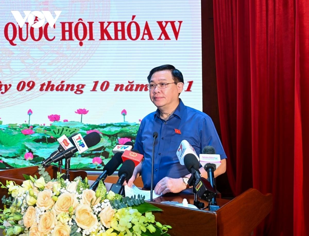 Chủ tịch Quốc hội tiếp xúc cử tri quận Hồng Bàng, TP Hải Phòng