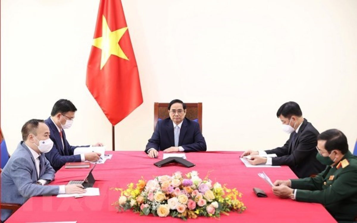 Prime Minister Pham Minh Chinh holds online talks with Turkish Vice President Fuat Oktay.
