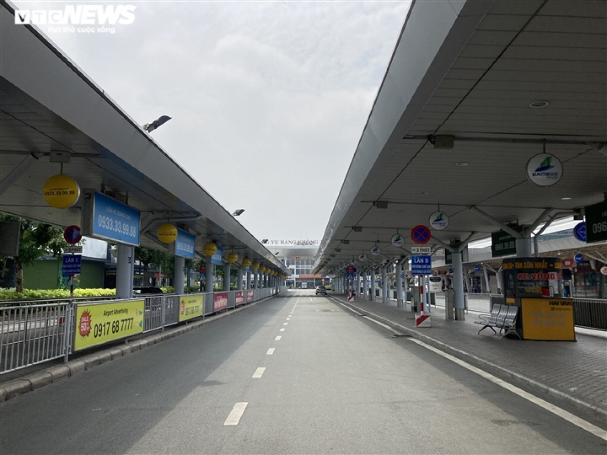 With commercial flights yet to reopen the airport is still quiet, as it was during the social distancing period.