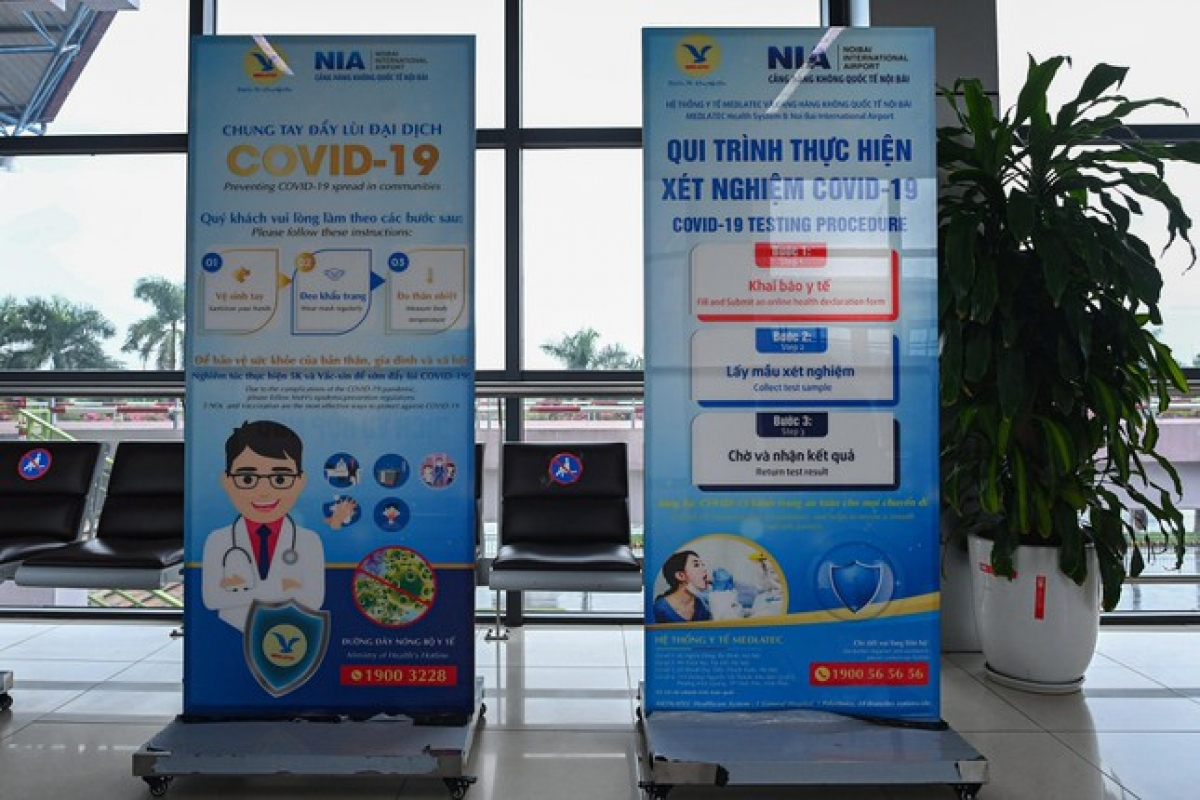 Those without such a certificates will be required to undergo rapid antigen tests at Noi Bai International Airport, with test results being received within 20 to 30 minutes.