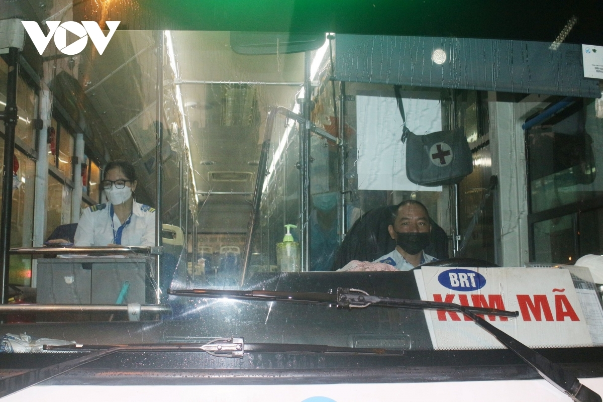 Both the driver and conductor are now fully vaccinated against the COVID-19 pandemic.