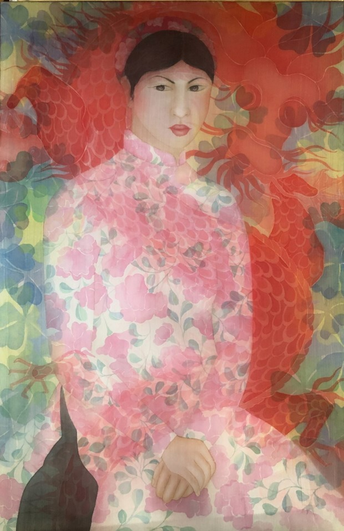 A silk painting drawn by Nguyen Thi Chau Giang back in 2015. (Photo: Nguyen Thi Chau Giang/APT10)